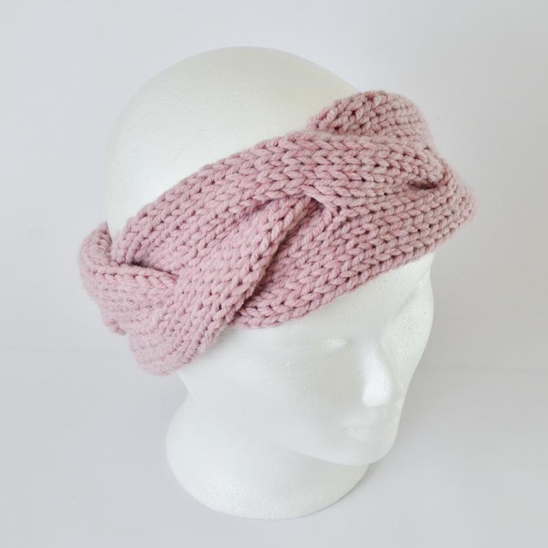 Zopfstirnband rosa (ohne Wolle!)