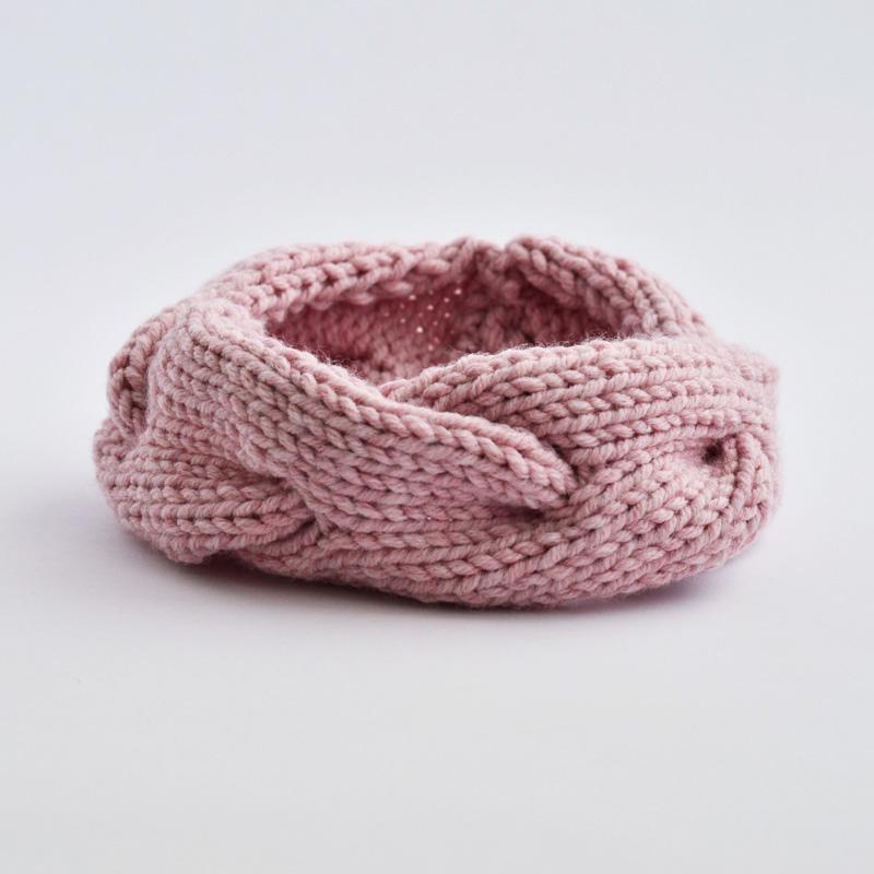 Zopfstirnband hellrosa (ohne Wolle!)