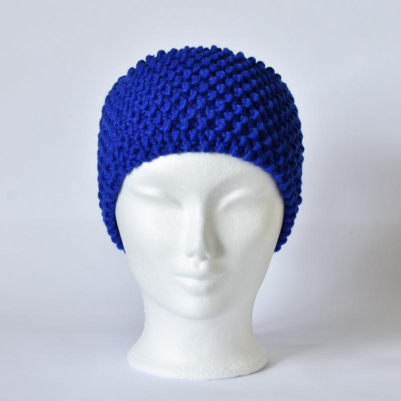Perlstrickmuster-Stirnband dunkelblau