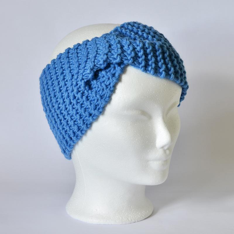 Stirnband mit Drehung blau