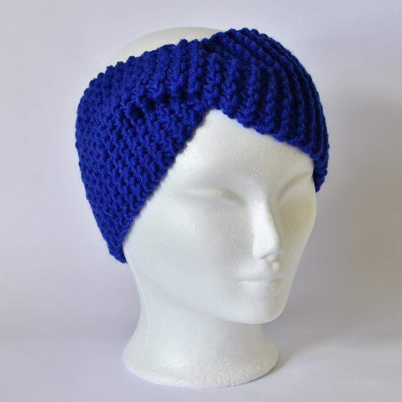 Stirnband mit Drehung dunkelblau