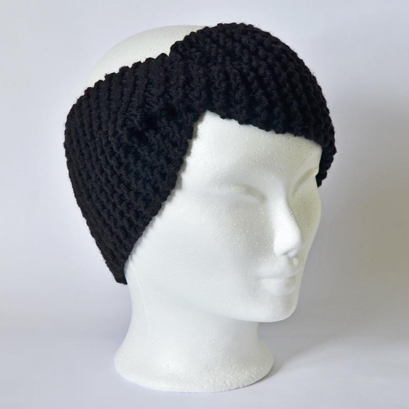 Stirnband mit Drehung schwarz