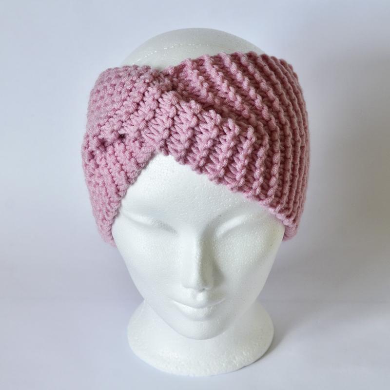 Stirnband mit Drehung rosa