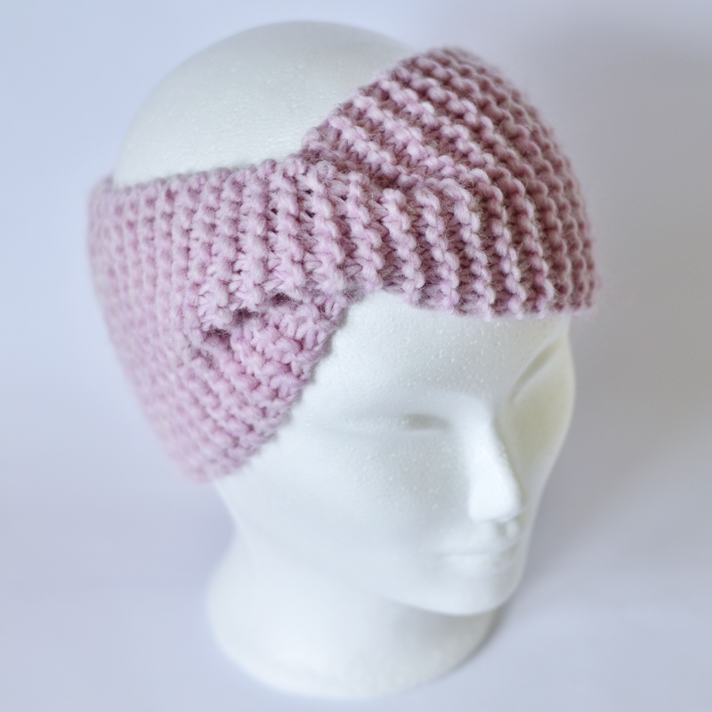 Stirnband mit Drehung rosa meliert