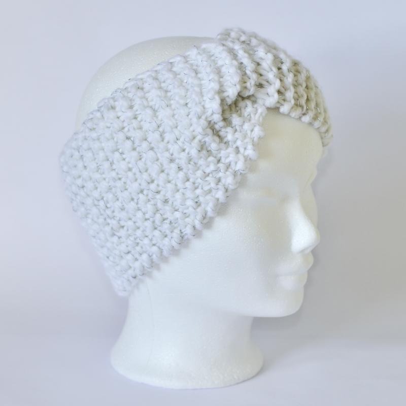Reflektor-Stirnband mit Drehung weiß