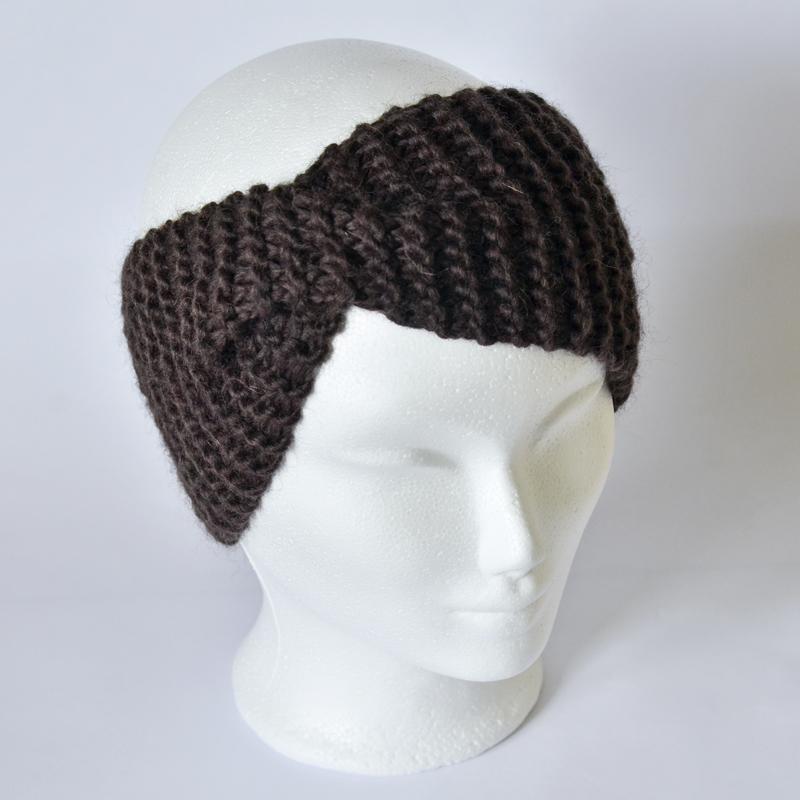 Stirnband mit Drehung dunkelbraun